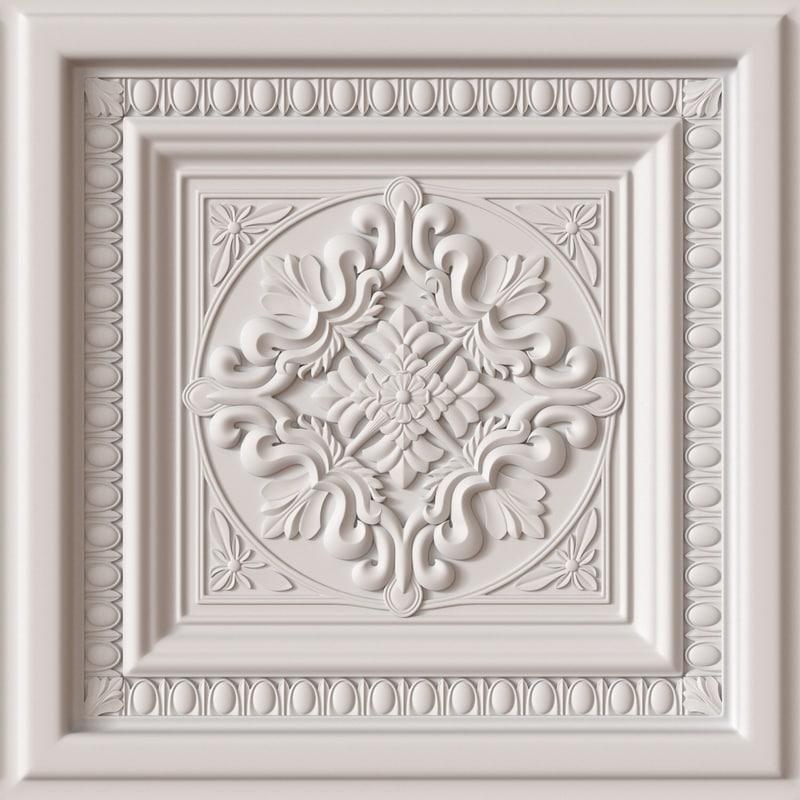 3d model decorative ceiling tile