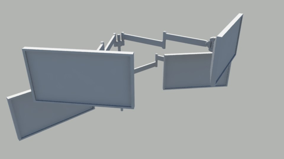 3d model computer monitor arms