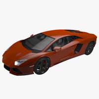 3d 3ds realistic lamborghini aventador