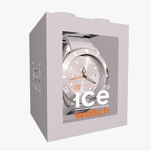 grey ice watch c4d