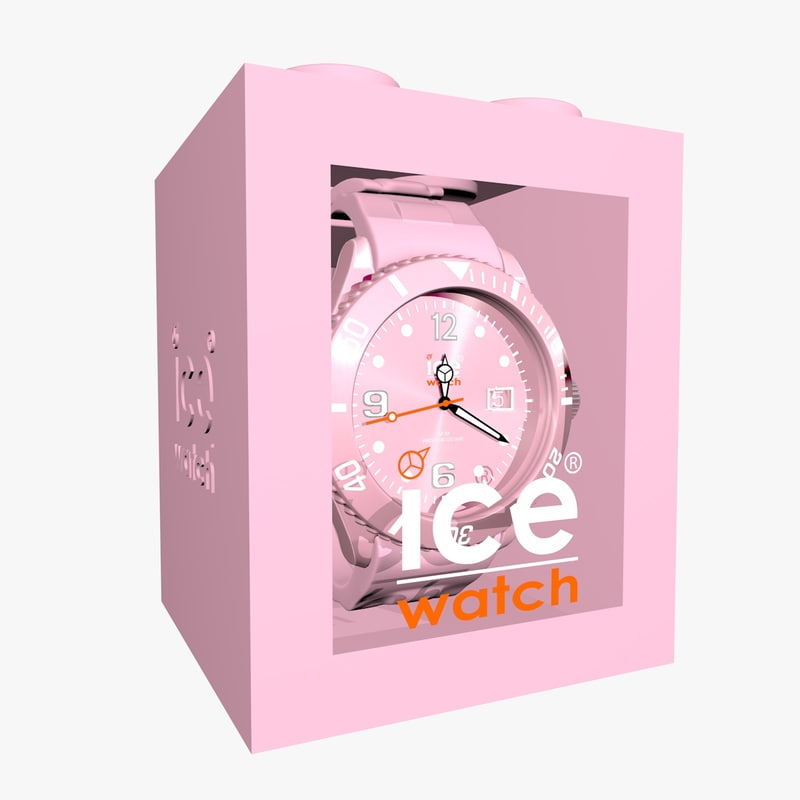 3d model pink ice watch