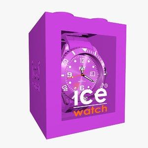 3d 3ds purple ice watch