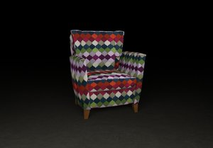 free armchair interior 3d model