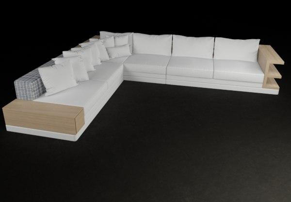 3d max sofa modern minimal