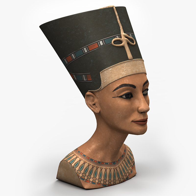 3d nefertiti bust model