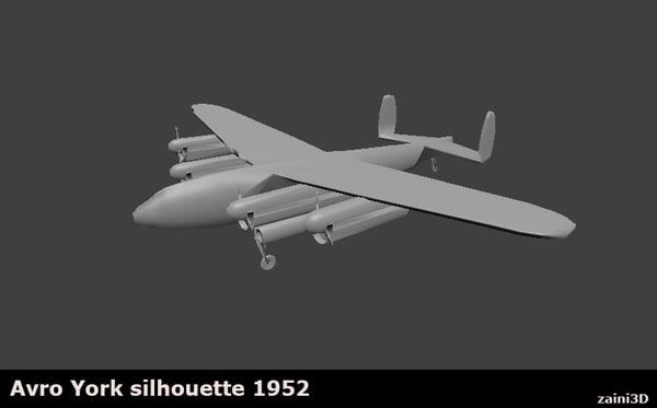 avro york aircraft 1952 3d 3ds