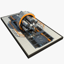 spacecraft drive 3D models
