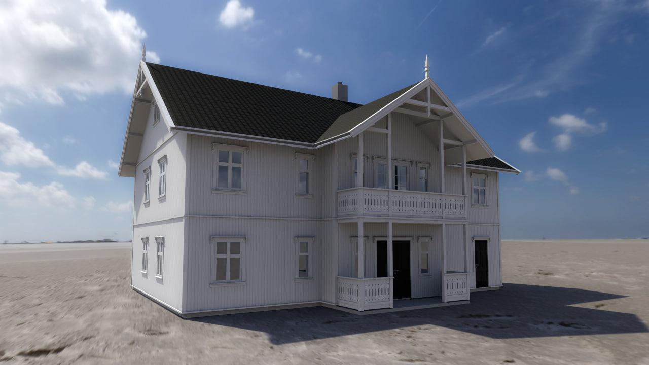 3d house building model