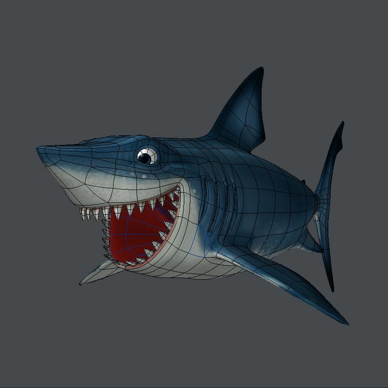 shark obj