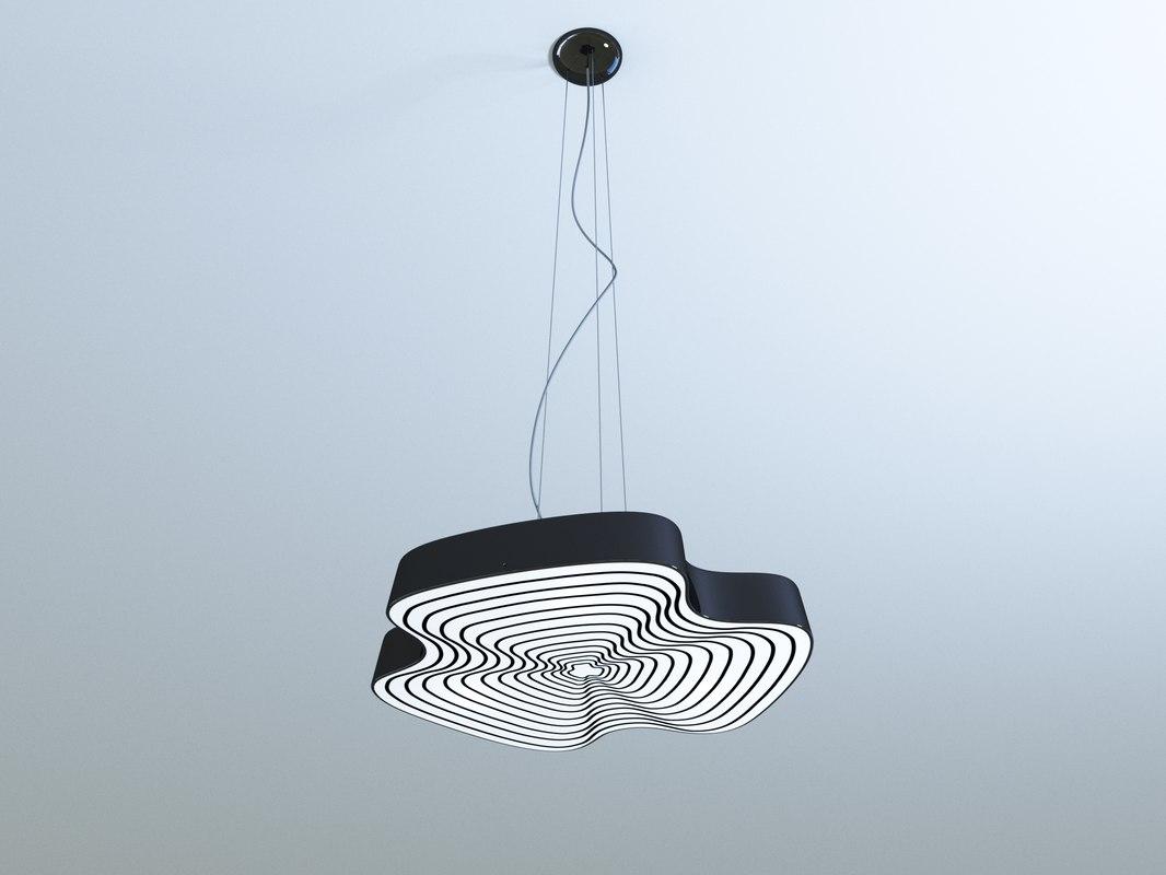3d leucos infinity nero lamp model