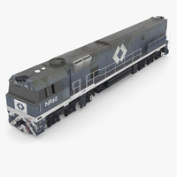australian nr60 locomotive industrial 3d model