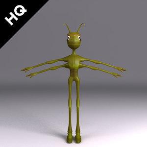 3d model ant cartoon