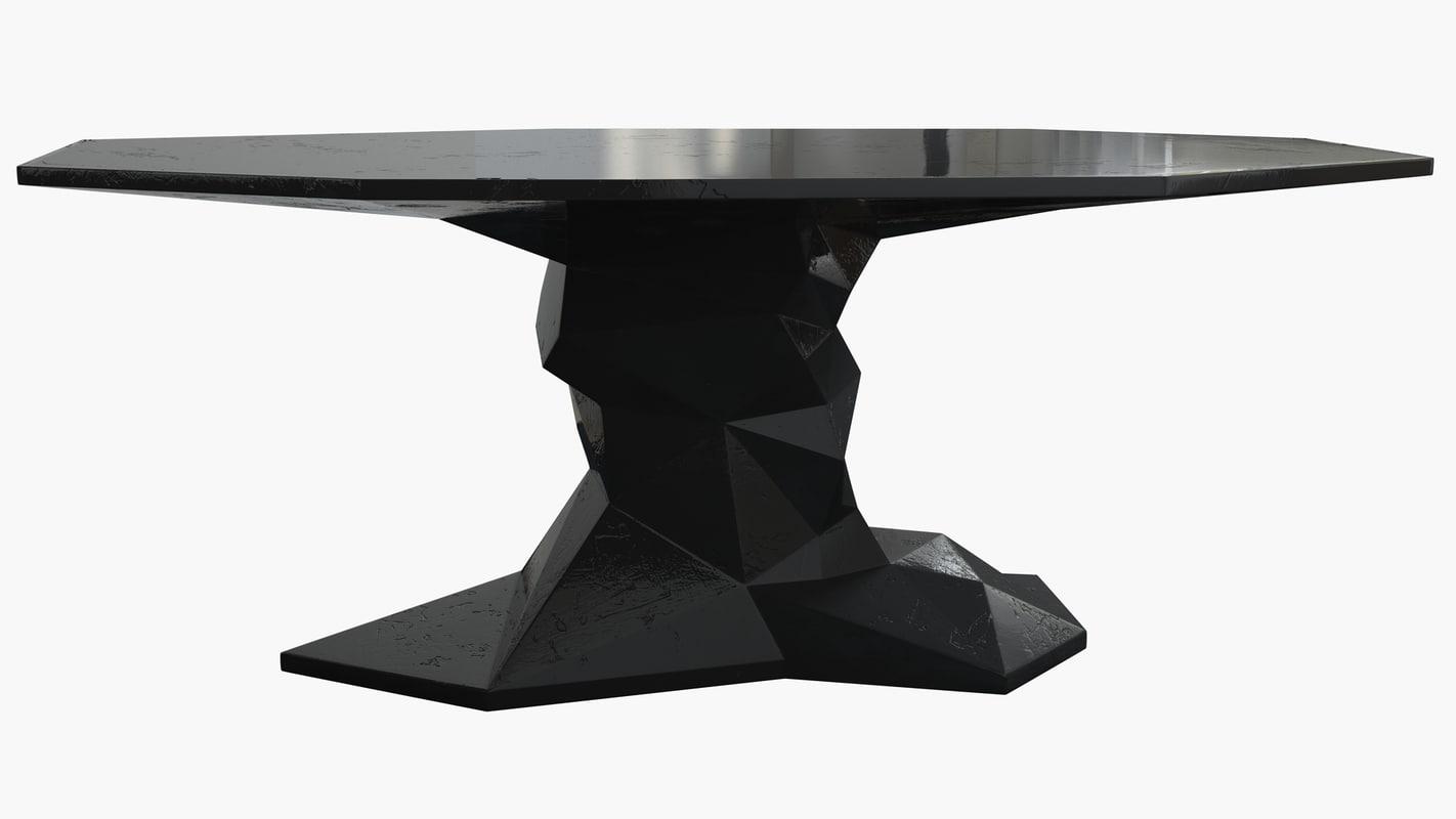 boca lobo table 3d max