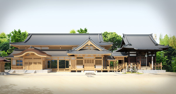 3d japanese temple hiroshima