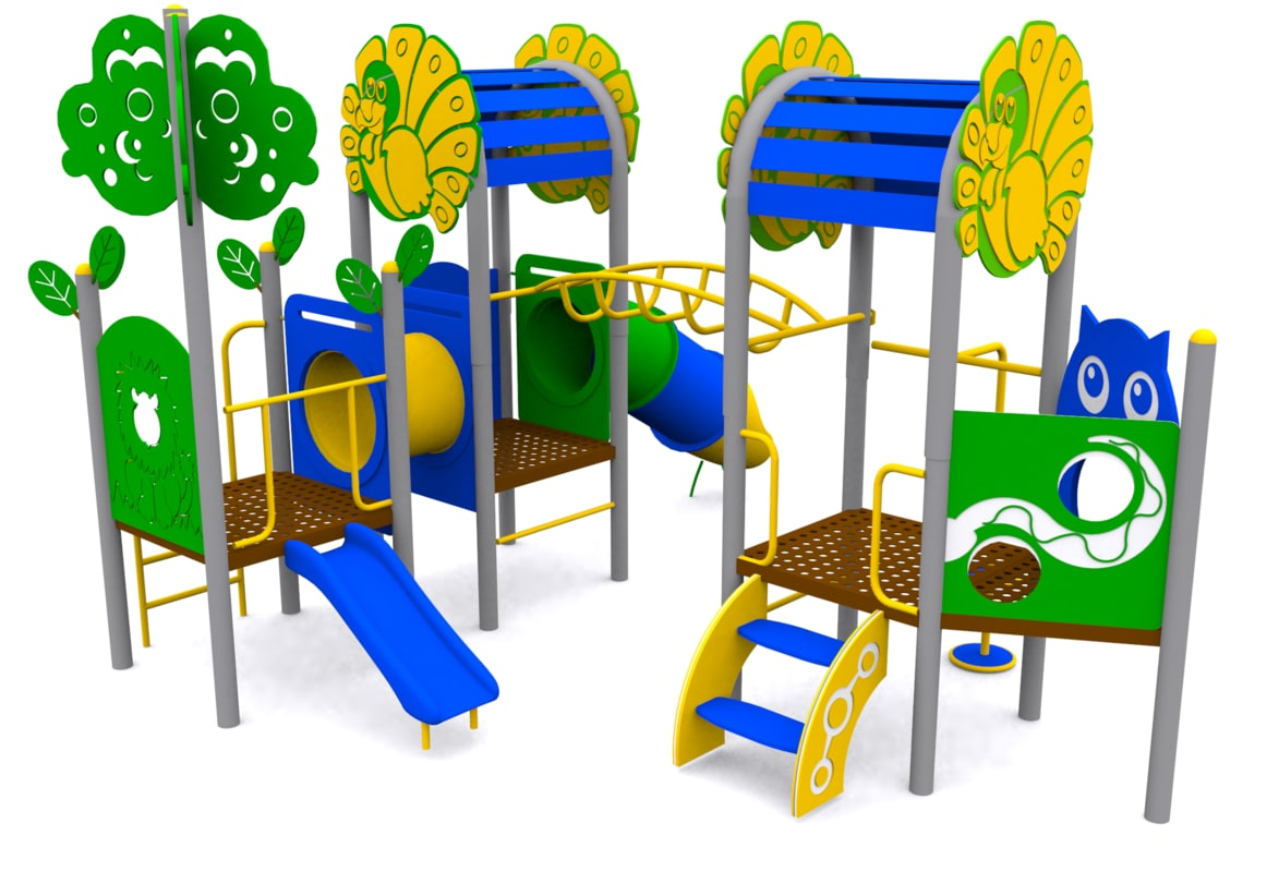 playground kids 3d obj