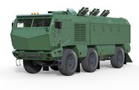 3d kamaz typhoon model