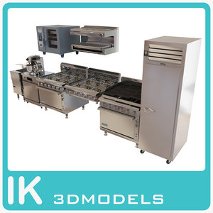 commercial kitche technics pack 3d max