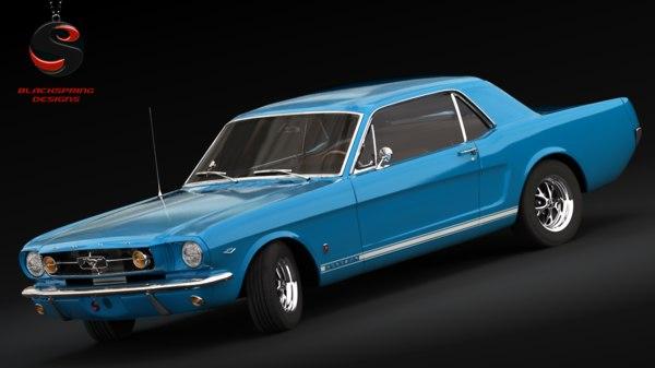 3d mustang gt 1965 model