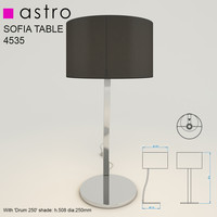 3d model sofia table light lamp