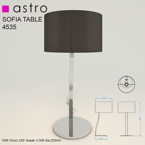 3d model sofia table light lamp