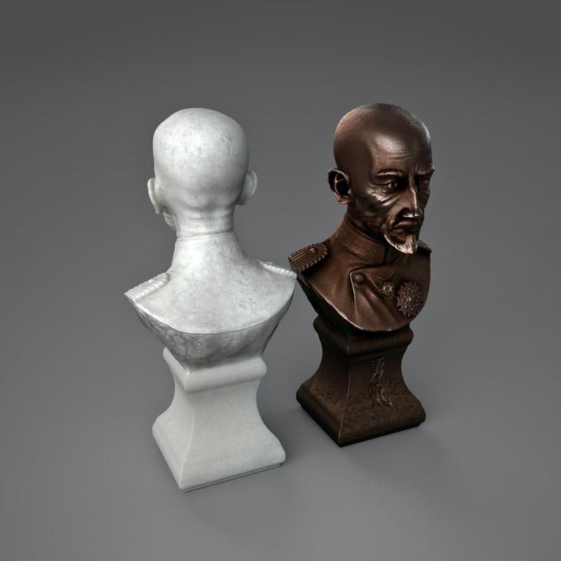 japanese general statue 3d model
