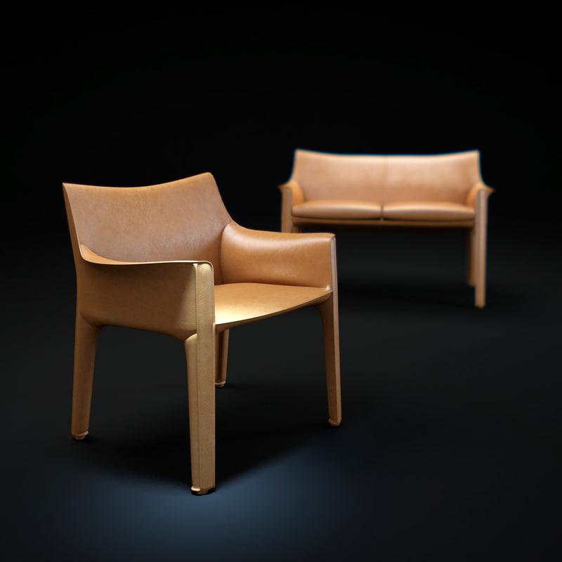 3d model 413-cab-chair