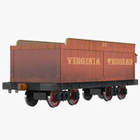 Old Coal Car 3D Model
