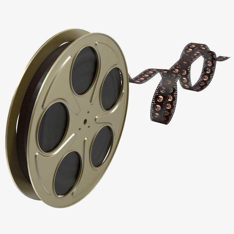 video film reel 6 3d model