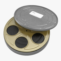 Video Film Reel in Case 3 3D Model