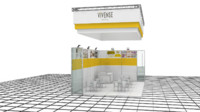 3d model of vivense exhibition design -