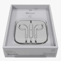 3d model apple earpods remote mic