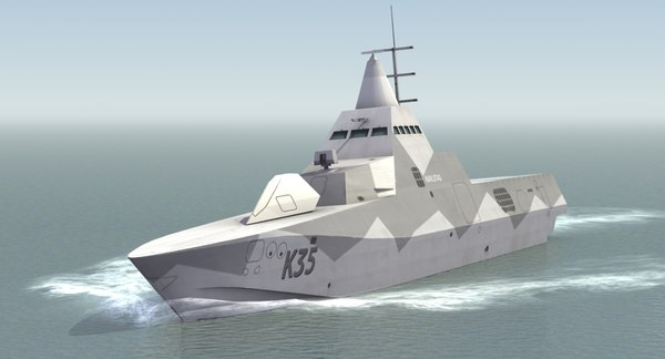 3d stealth corvette k35