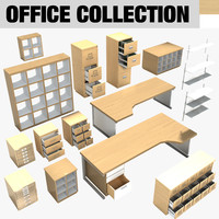 modern contemporary office furniture 3d model
