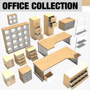 modern contemporary office furniture 3d model