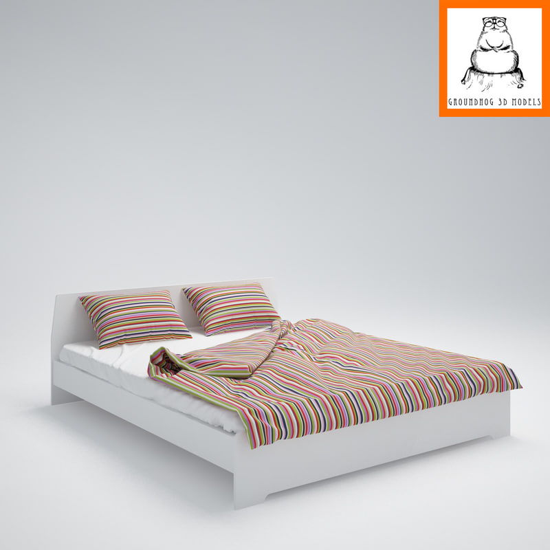 Ikea Askvoll Bed 3d Model