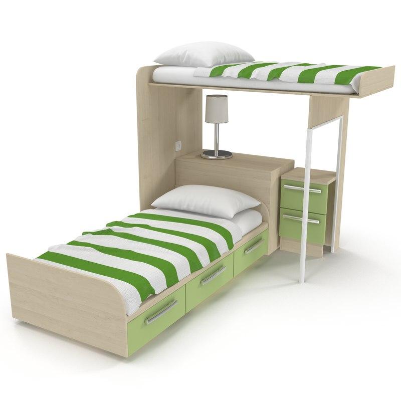 kids bed 2 max