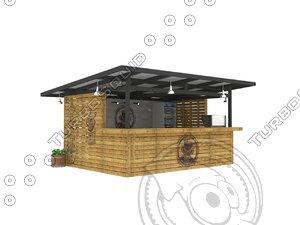 3d store beverage bar beach model