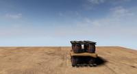 3d cargo shipping model