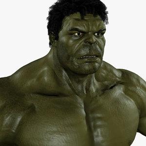 hulk avengers mark 3d obj