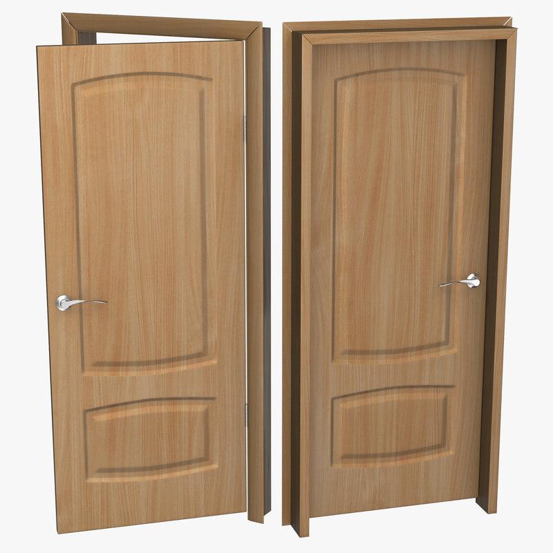 3d solid wooden door