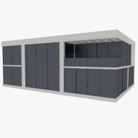 3d model modernist house