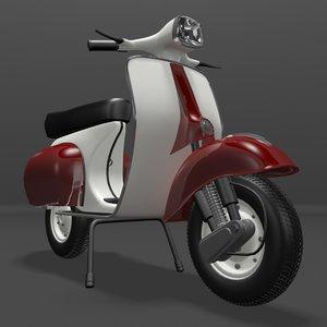 vespa scooter obj