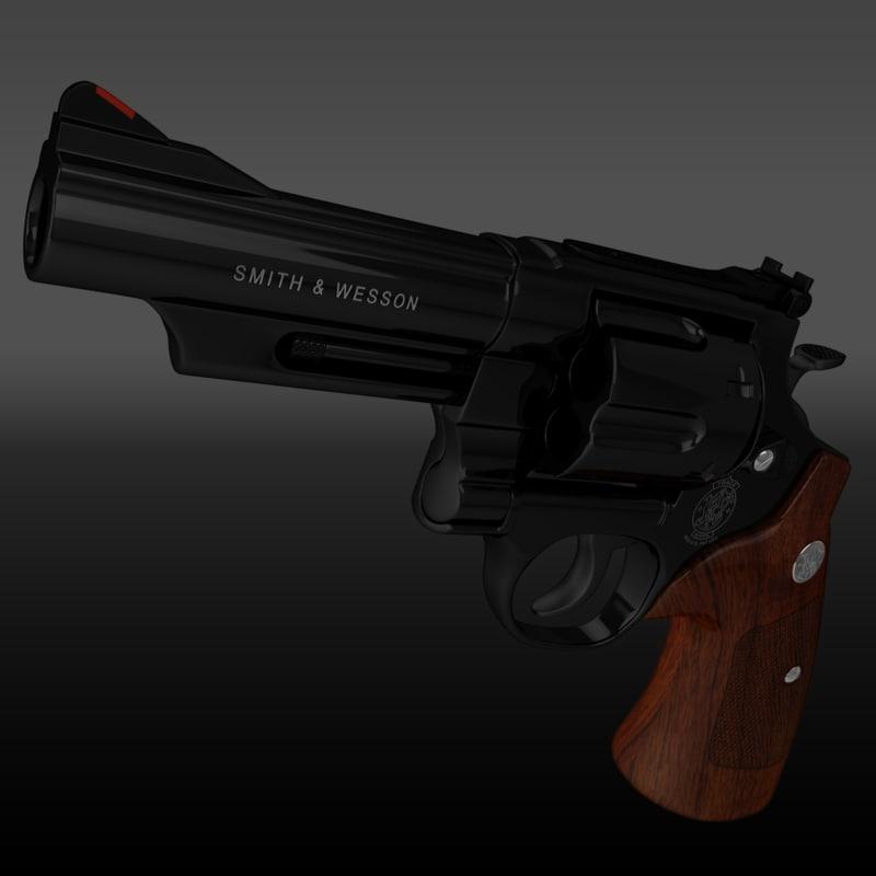 3d model of photorealistic 29 629 44 magnum