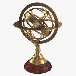 antique globe 4 3d model