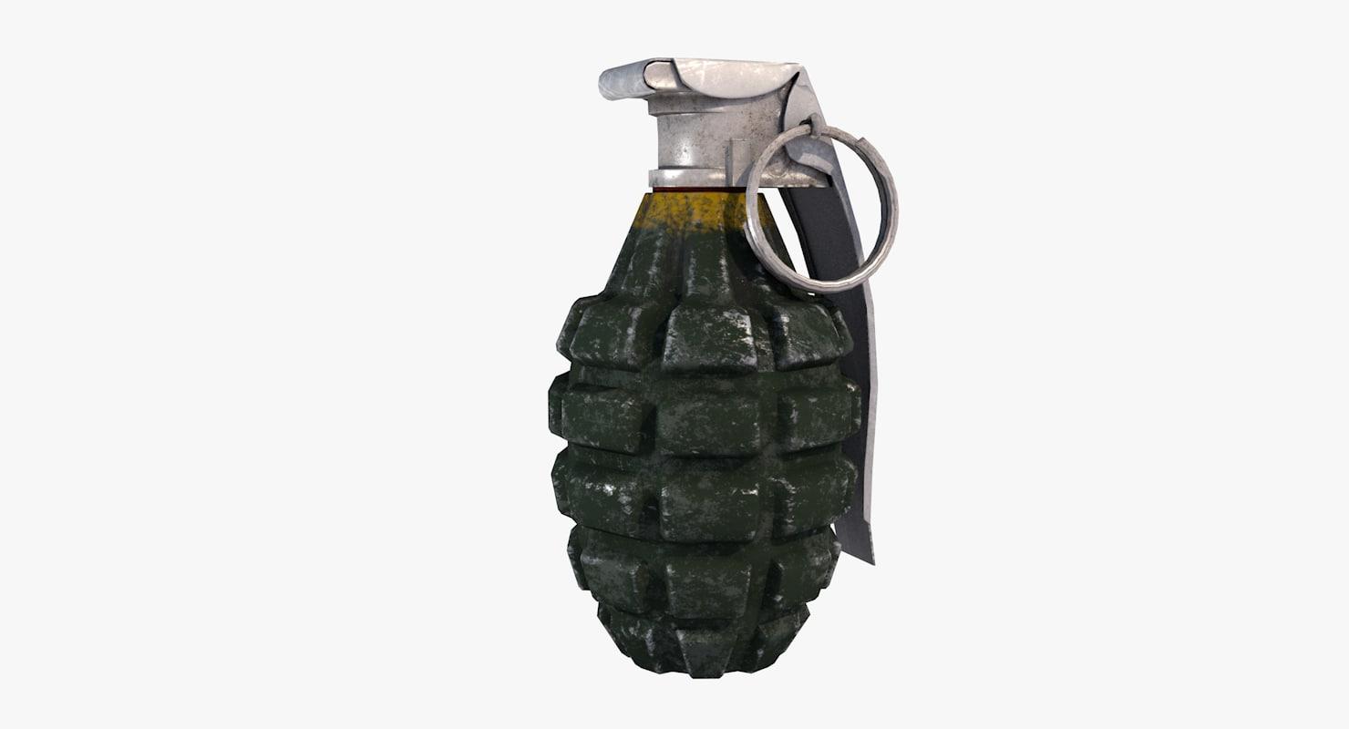 mk ii hand grenade 3d obj