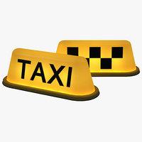 3d taxi light