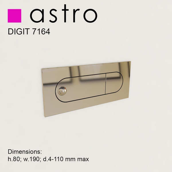 astro digit 7164 wall lamp max