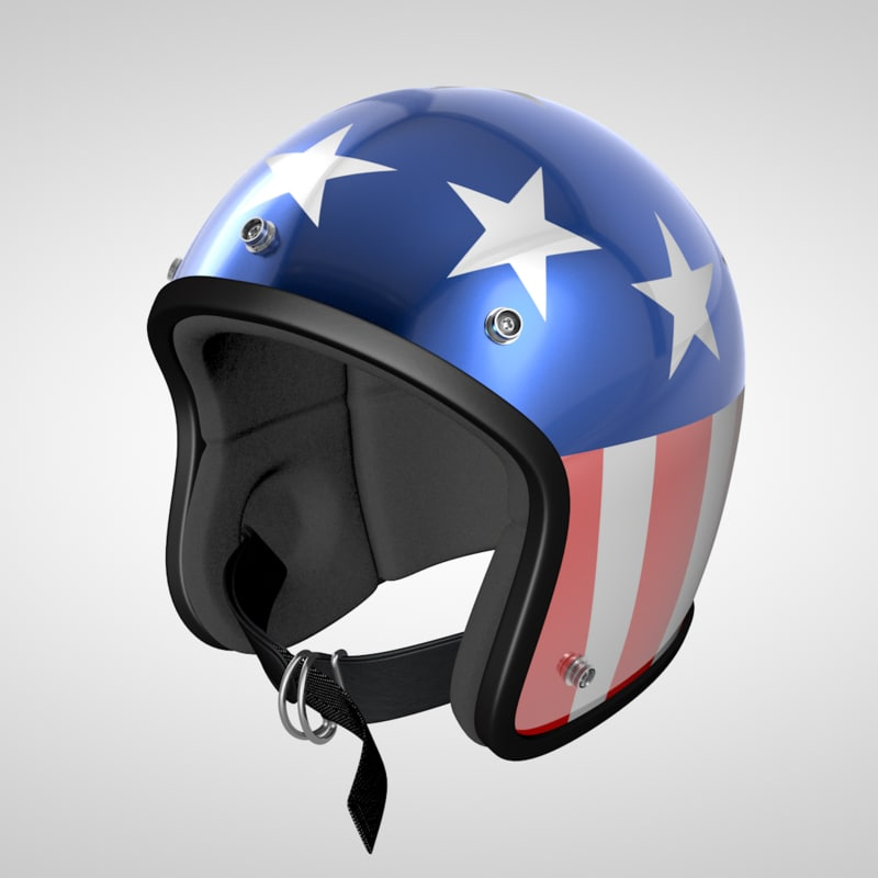 3d model old school helmet