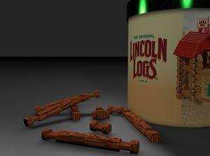 logs toy 3d c4d