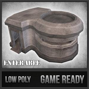 3d model concrete bunker 04 1